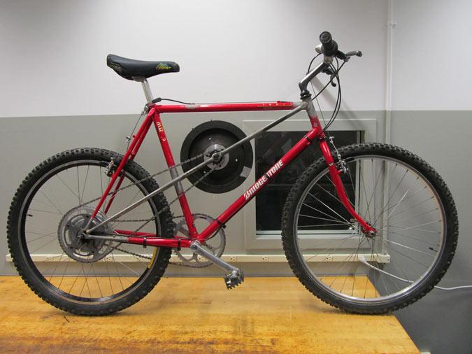 Maxwell von Stein's Flywheel Bicycle (Courtesy Cooper Union)