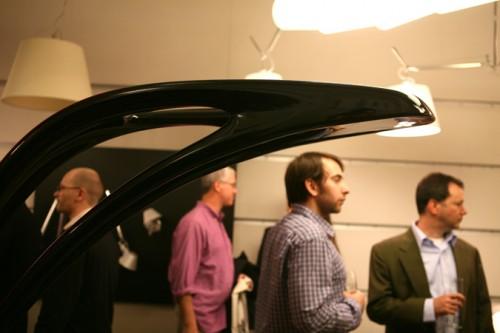 Zaha Hadid's Genesy lamp (Photo by Tom Stoelker)