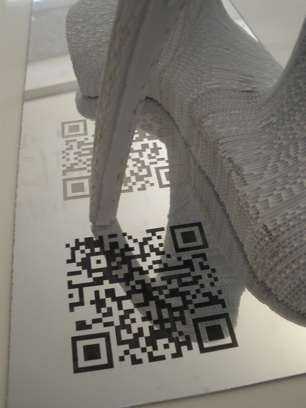 Prototype with mirrored QR code base (Nilus Designs)