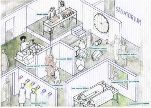 Pedro Reyes's rendering of the Sanatorium