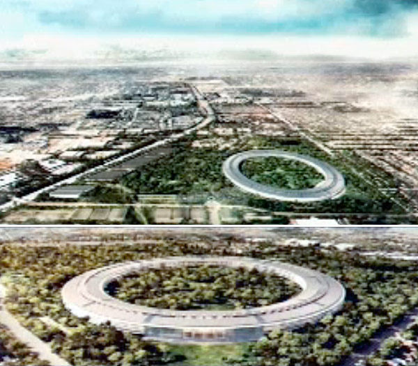 New Apple HQ (Cupertino City Television Screen Capture)