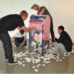 DTA Posse prepares their installation.