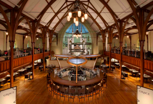Grace Restaurant in Portland, ME, designed by R. Dean Bingham and Tivi Design
