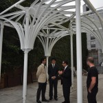 Andrés Cortés and Young-Hwan Choi discuss the design with NYC DOB Commissioner Robert LiMandri (DOB)