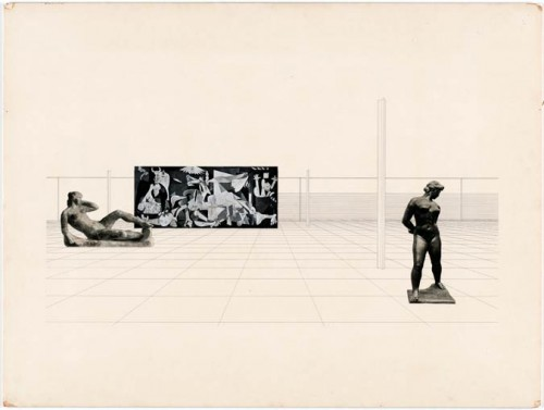 Mies van der Rohe's Museum for a Small City Project, 1942 (Courtesy MoMA)