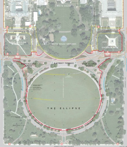Plan of the proposed President's Park (Courtesy RMI)