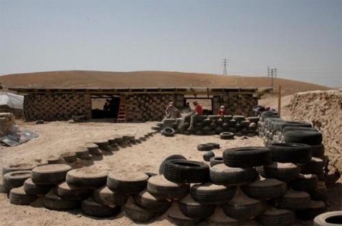School for Bedouin children made of tires in Jerusalem. (Courtesy ARCò)