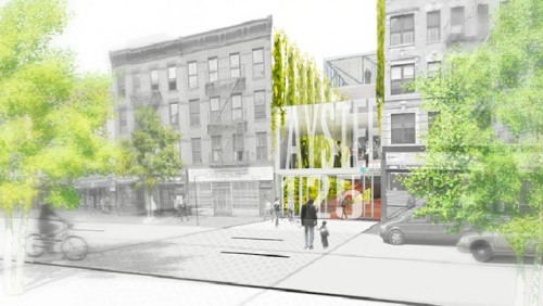Taystee at Harlem Green on 125th Street (Courtesy LevinBetts Architects)