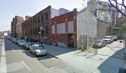 Existing view along 126th Street (Courtesy Google)