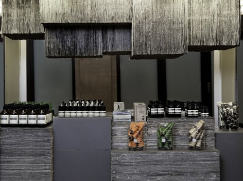Aesop Kiosk in Grand Central Station (COURTESY AESOP VIA CO.DESIGN)