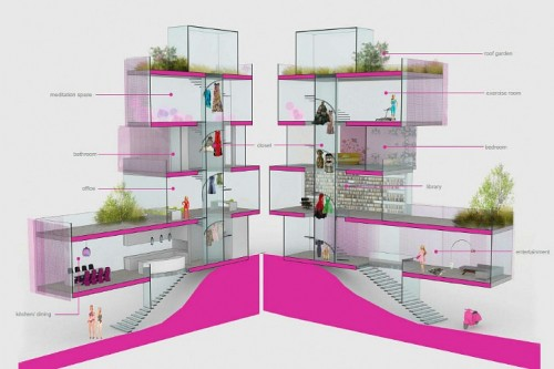 The New Barbie House (via Inhabitat)
