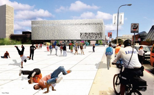 OMA's proposal for the Broad Museum. (Courtesy OMA)