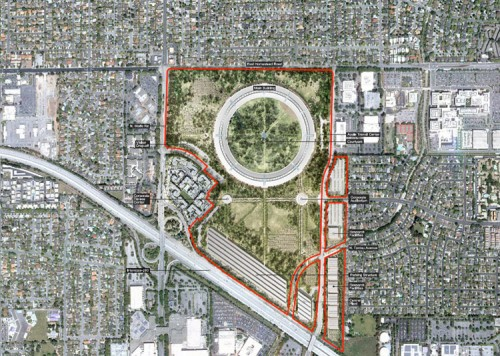 Apple's planned Cupertino campus. (Courtesy Foster & Partners)