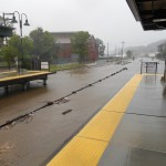 Flooding on the Metro-North's Hudson Line. (Courtesy MTA)