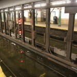 Water covers the tracks at 145th Street/Lenox Ave. station (Courtesy MTA / Leonard Wiggins)