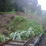 A mudslide on the Hudson Line. (Courtesy MTA)