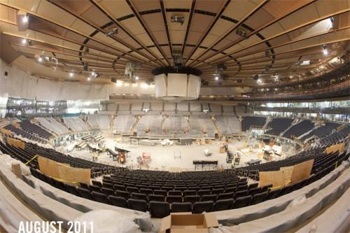 Madison Square Garden under renovation. (Courtesy Madison Square Garden)