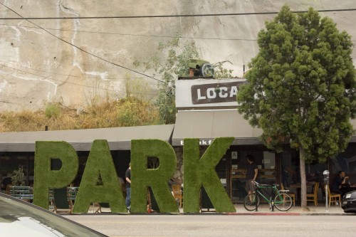 Standard's park on Sunset Blvd in LA's Silver Lake neighborhood.