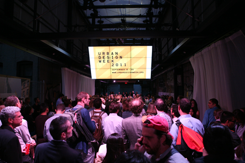The launch of Urban Design Week at the BMW Guggenheim Lab.