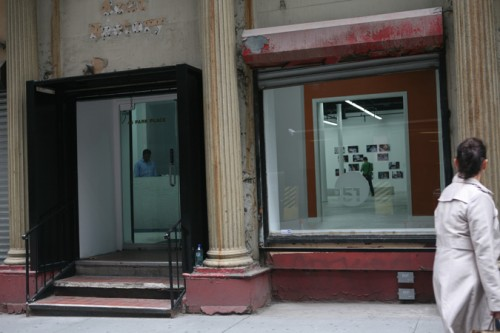 The new gallery storefront.