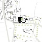 A site plan of the Wulpen Community Center (courtesy So - IL)