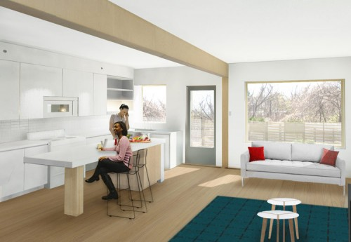 A rendering of the interior of Empowerhouse. (Courtesy U.S. Department of Energy)