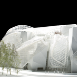 A 1:100 scale model of the building (Fondation Louis Vuitton pour la Création/Mazen Saggar)