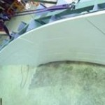 Prototype of the curved Ductal panel (Lafarge)