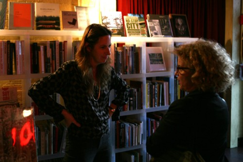 Potterton's book buyer and managing director Beth Daugherty chats with designer Elizabeth Polish.