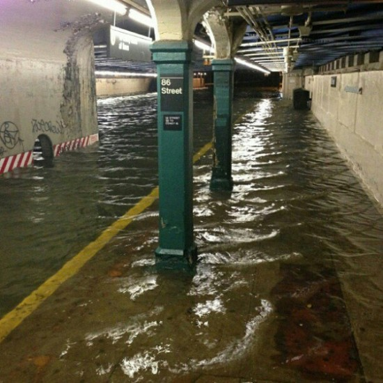 Flooded 86th Street Subway Station.