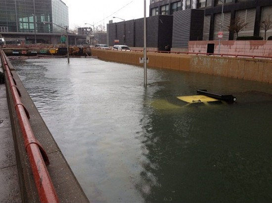 Flooded entrance to the Brooklyn Battery Tunnel. (Courtesy Governor Cuomo)
