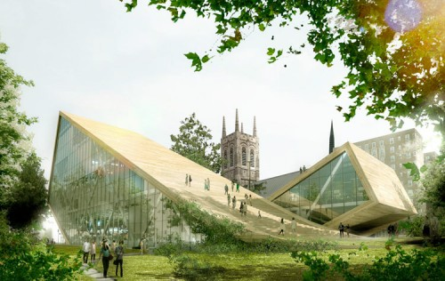 BIG's concept for the expansion of the National Beaux-Arts Museum in Quebec. (Courtesy BIG)