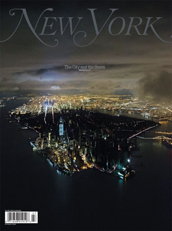 Iwan Baan's cover photograph for New York magazine shows a powerless Lower Manhattan. (Courtesy NY Mag)