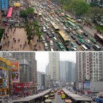 Before and after: Guangzhou Bus Rapid-Transit System, Guangzhou, China. (Karl Fjellstrom)