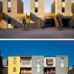 Before and after: Incremental Housing in Chile. (Courtesy Elemental)
