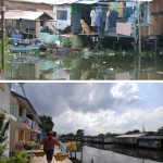Before and after: Bang Bua Canal Community Upgrading in Bangkok, Thailand. (Courtesy ACHR)