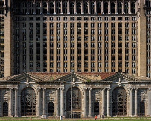 Facade, Michigan Central Station, 2009. (Andrew Moore)