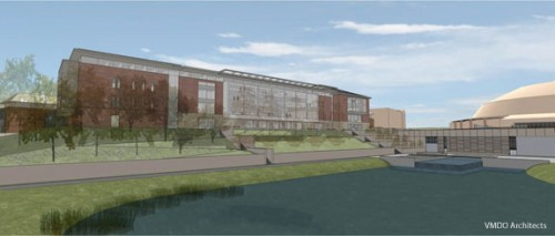 Image of the proposed Rev. Jerry Falwell Library. Courtesy of Liberty University