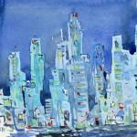 Watercolor by Gene Kohn.