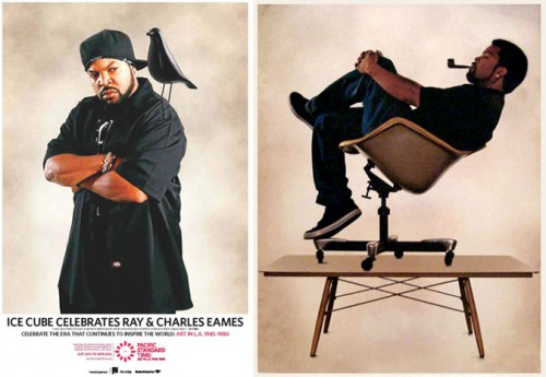 Ice Cube celebrates Ray & Charles Eames. (Courtesy Pacific Standard Time)