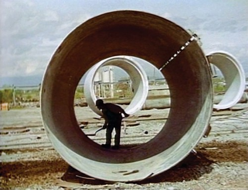 "Nancy Holt's ""Sun Tunnels,"" 1978. (Courtesy Graham Foundation)"