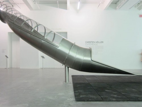 Carsten Höller's Slide at the New Museum. (Branden Klayko)