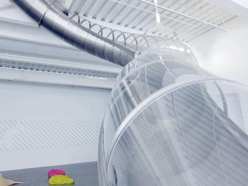Carsten Höller's Slide at the New Museum. (Branden Klayko)