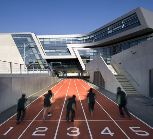Zaha Hadid's Evelyn Grace Academy. (Courtesy Zaha Hadid Architects)
