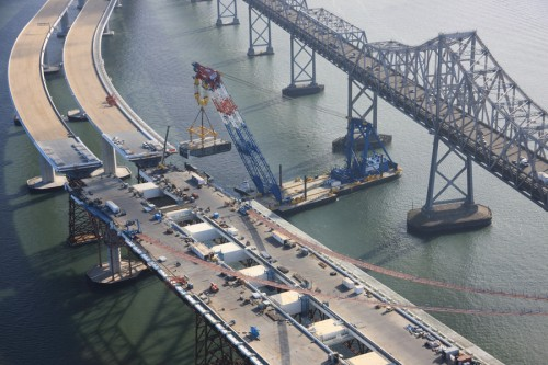Construction on the new Bay Bridge (courtesy Bay Bridge 360)