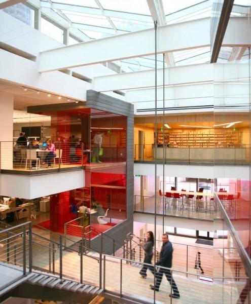 Inside the atrium at Gensler's new office. (Ryan Gobuty)