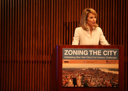 Commissioner Amanda Burden opens the afternoon session.
