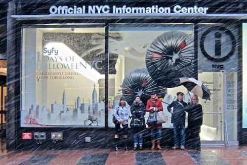 The Archtober team outside of the Official NYC Info Center.