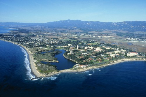 Aerial view of the UCSB campus