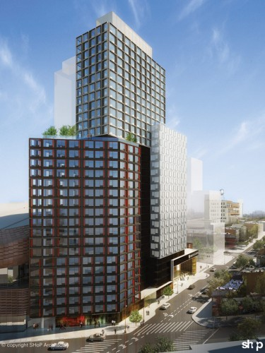 B2, the first building that will be built at Atlantic Yards. (Courtesy SHoP)